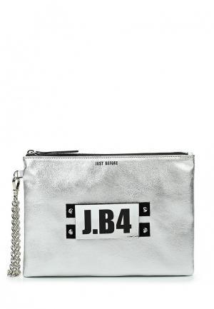 Клатч J.B4. Цвет: серебряный