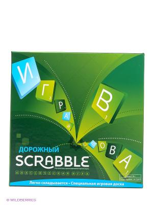 Игра Скрэббл Дорожный Scrabble MATTEL GAMES. Цвет: зеленый