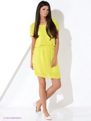 Платье Malvin. Цвет: желтый, салатовый