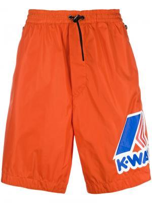 X K-Way basketball shorts Dsquared2. Цвет: жёлтый и оранжевый