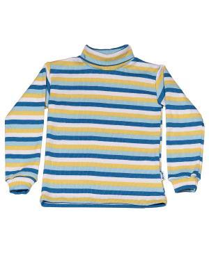 Водолазка с начесом МИКИТА. Цвет: синий, голубой, желтый, белый