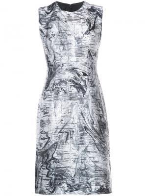 Платье с мраморным принтом Rubin Singer. Цвет: белый