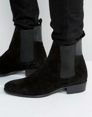 Hudson London Замшевые ботинки челси Watts. Цвет: черный