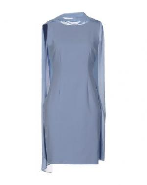Короткое платье MALAICA. Цвет: грифельно-синий