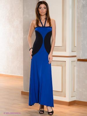 Платье МадаМ Т. Цвет: синий, черный