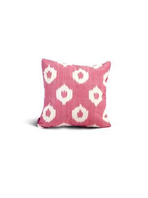Чехол на подушку декоративныйIkat Square 45*45см RAWEDGE. Цвет: зеленый, розовый