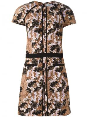 Платье Robe Manches Carven. Цвет: коричневый