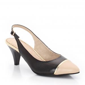 Туфли кожаные ANNE WEYBURN. Цвет: коралловый,темно-бежевый,темно-синий/ бежевый
