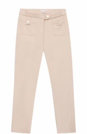 Джинсы с плетеными вставками и накладными карманами Chloé. Цвет: розовый
