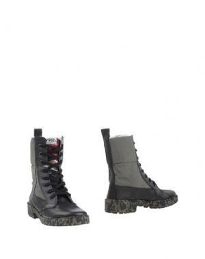 Полусапоги и высокие ботинки SPRINGA. Цвет: зеленый-милитари