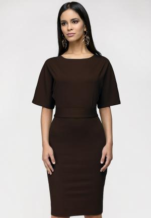 Платье 1001dress. Цвет: коричневый