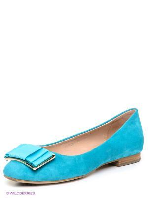 Балетки MILANA. Цвет: голубой