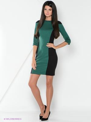 Платье La Fleuriss. Цвет: зеленый
