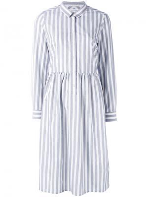 Платье-рубашка в полоску Chinti And Parker. Цвет: белый