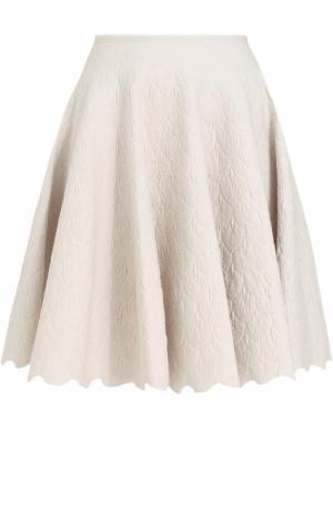 Мини-юбка с фактурной отделкой Alaia. Цвет: белый
