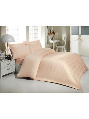 Комплект постельного белья 1,5сп БАМБУК MARIPOSA. Цвет: малиновый