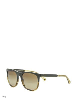 Очки солнцезащитные Emporio Armani. Цвет: серо-коричневый, зеленый