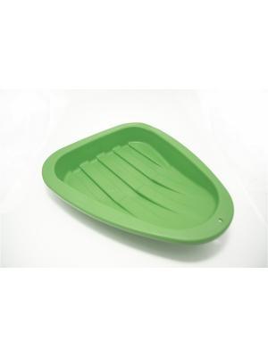 Ледянка треугольник, пластик, 43х37х7см KONONO. Цвет: зеленый