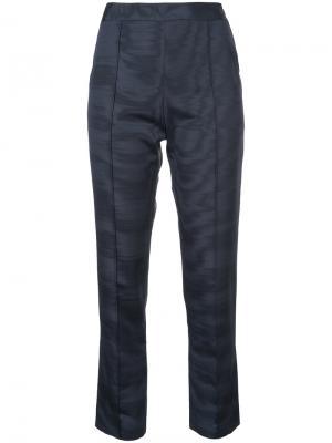 Классические брюки с потертым эффектом Rosie Assoulin. Цвет: синий