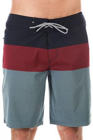 Шорты пляжные  Blocve20 Navy Blazer Quiksilver. Цвет: синий,бордовый