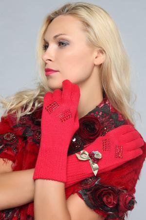 Перчатки LakMiss. Цвет: красный
