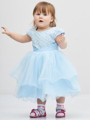 Платье Baby Moses. Цвет: голубой