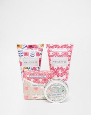 Beauty Extras Мини-набор для ухода за кожей рук Vintage & Co Fabric Flowers. Цвет: бесцветный