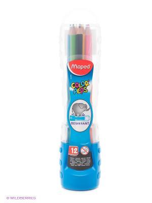 Набор цветных карандашей, 12 цв. Maped. Цвет: синий