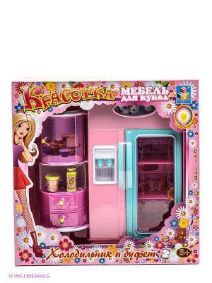 Набор мебели для кукол 1Toy. Цвет: розовый