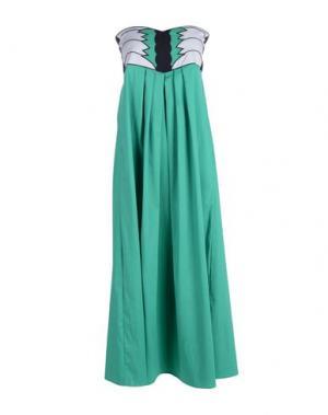Платье длиной 3/4 MARIUCCIA. Цвет: зеленый