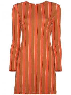Туника с длинными рукавами в полоску Simon Miller. Цвет: жёлтый и оранжевый