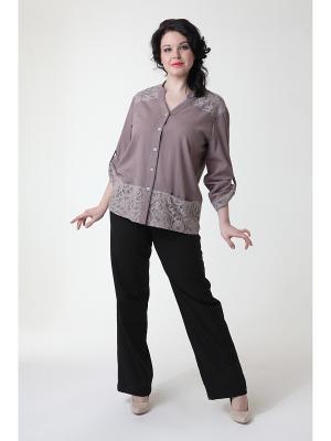 Блуза DizzyWay. Цвет: серо-коричневый