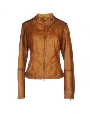 Куртка VINTAGE DE LUXE. Цвет: желто-коричневый