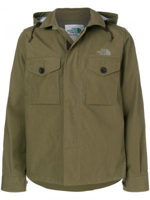 Куртка с капюшоном Junya Watanabe Comme Des Garçons Man. Цвет: зелёный