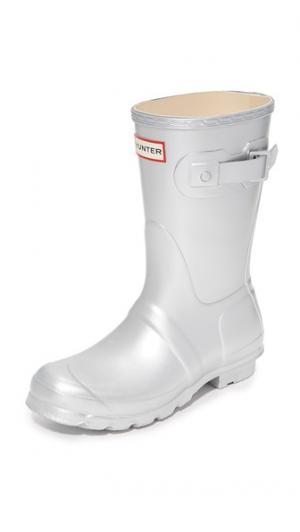 Оригинальные короткие сапоги Hunter Boots. Цвет: голубой