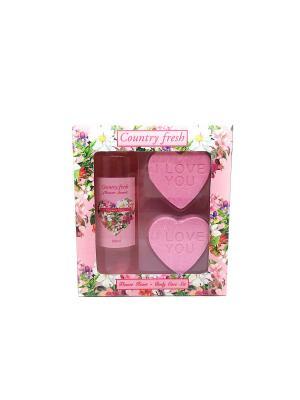 Подарочный набор Flower Heart 3 Country Fresh. Цвет: кремовый