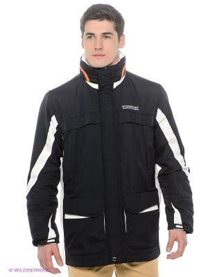 Куртка Stonecast. Цвет: темно-синий, молочный, оранжевый