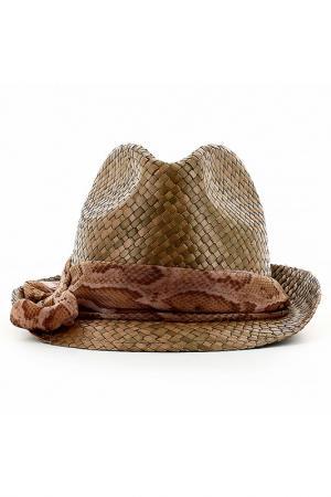 Шляпа Emporio Armani. Цвет: коричневый