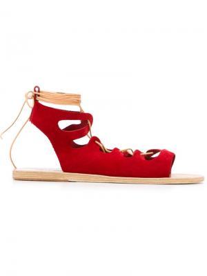 Сандалии Antigone Ancient Greek Sandals. Цвет: красный