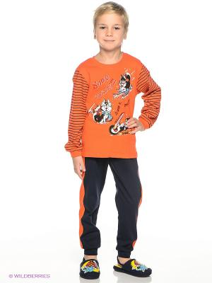Пижама PELICAN. Цвет: темно-синий, оранжевый