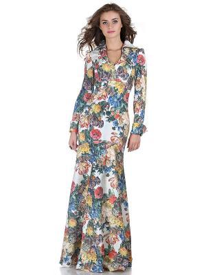 Платье OLIVEGREY. Цвет: молочный, оранжевый, желтый