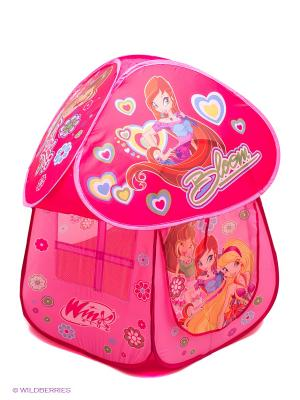 Детская игровая палатка WINX CLUB. Цвет: малиновый