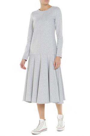 Платье Lava. Цвет: серый меланж