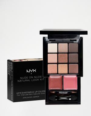 NYX Professional Makeup Набор для макияжа Make-Up Nude On Natural Look. Цвет: мульти