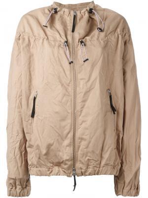 Куртка-бомбер с эластичным подолом Marni. Цвет: телесный