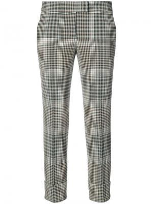 Укороченные брюки в клетку Akris Punto. Цвет: коричневый