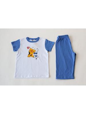 Пижама Iota. Цвет: белый, синий