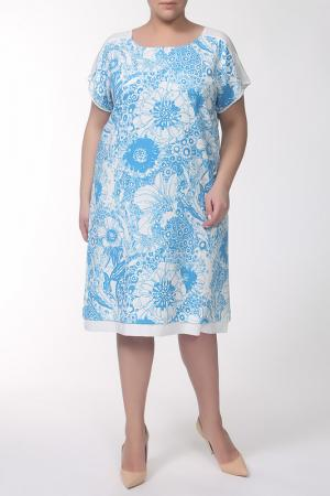 Платье QNEEL Q'NEEL. Цвет: белый, голубой
