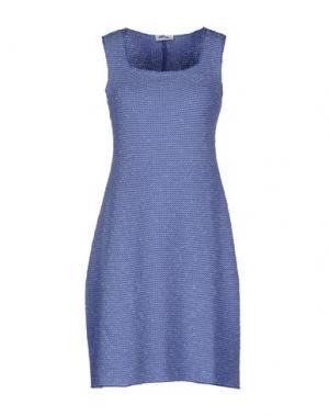 Короткое платье BASE. Цвет: пастельно-синий