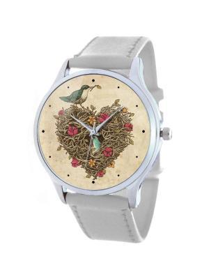 Дизайнерские часы Гнездо Tina Bolotina. Цвет: рыжий, белый, персиковый